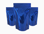 Blue Shiny Pouches