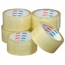 Cellofix Clear Low Noise Packaging Tape x Pack of 6 Rolls