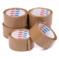 Cellofix Brown Low Noise Packaging Tape x Pack of 6 Rolls