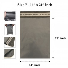 Grey Mailing Bags 14 x 21 Inches - 55 Microns