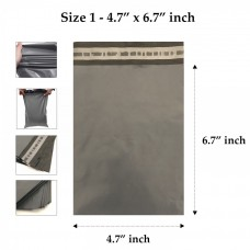 Grey Mailing Bags 4.7 x 6.7 Inches - 55 Microns