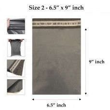 Grey Mailing Bags 6.5 x 9 Inches - 55 Microns