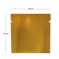 60mm x 60mm  Gold Matt 3 Side Seal Pouches