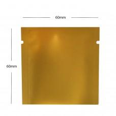 60mm x 60mm  Gold Matt 3 Side Seal Pouches