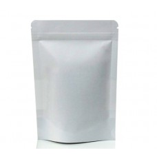 250g White Paper Stand Up Pouch/Bag with Zip Lock [SP4]