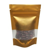 40g Window Gold Matt Stand Up Pouch/Bag with Zip Lock [SP1]