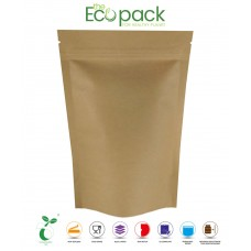 40g Compostable EcoPack Stand Up Pouches Heat Seal Food Grade with Zip Lock [SP1]