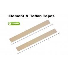 200mm Element and Teflon Strip For Impulse Heat Sealers x 2 Sets
