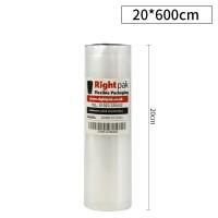 200mm x 6meter Embossed Vacuum Sealer Roll 90 Micron