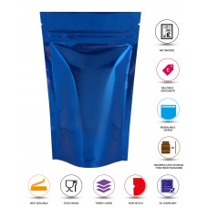 40g Blue Shiny Stand Up Pouch/Bag with Zip Lock [SP1]