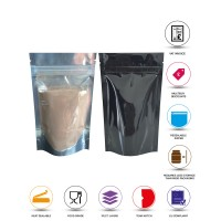 40g Clear / Black Shiny Stand Up Pouch/Bag with Zip Lock [SP1]