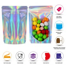 100g Clear / Holographic Stand Up Pouch/Bag with Zip Lock [SP9]