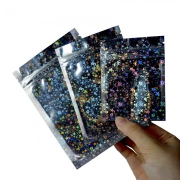 Glitter 3 Side Seal Pouches 100mm x 150mm