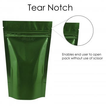 40g Green Shiny Stand Up Pouch/Bag with Zip Lock [SP1]