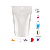 40g Hole White Shiny Stand Up Pouch/Bag with Zip Lock [SP1]