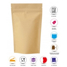 500g Kraft Paper Stand Up Pouch/Bag with Zip Lock [SP5]