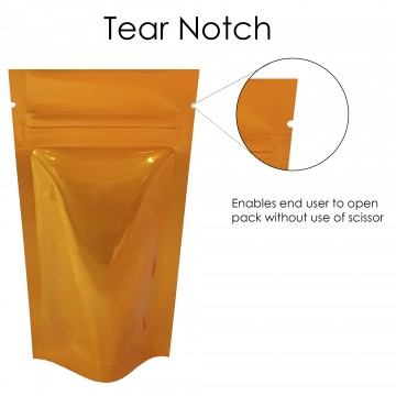 40g Orange Shiny Stand Up Pouch/Bag with Zip Lock [SP1]
