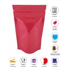 40g Pink Shiny Stand Up Pouch/Bag with Zip Lock [SP1]