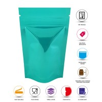 40g Turquoise Shiny Stand Up Pouch/Bag with Zip Lock [SP1]
