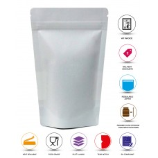 100g White Paper Stand Up Pouch/Bag with Zip Lock [SP9]