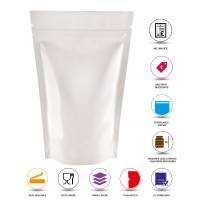 150g White Shiny Stand Up Pouch/Bag with Zip Lock [SP3]