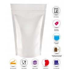 50g White Shiny Stand Up Pouch/Bag with Zip Lock [WP1]