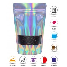 100g Window Holographic Stand Up Pouch/Bag with Zip Lock [SP9]