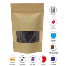 250g Window Kraft Paper Stand Up Pouch/Bag with Zip Lock [SP4]