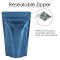 1kg Blue Shiny Stand Up Pouch/Bag with Zip Lock [SP6]