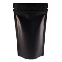 1kg Black Matt Stand Up Pouch/Bag with Zip Lock [SP6]