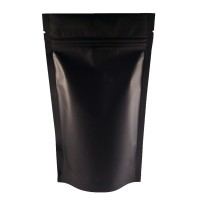 3kg Black Matt Stand Up Pouch/Bag with Zip Lock [SP7]