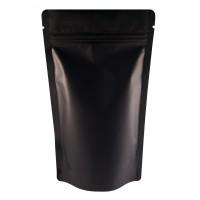 500g Black Matt Stand Up Pouch/Bag with Zip Lock [SP5]
