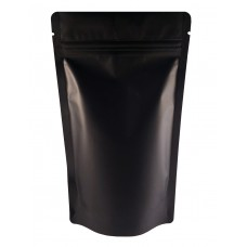 500g Black Matt Stand Up Pouch/Bag with Zip Lock [SP5]