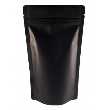 750g Black Matt Stand Up Pouch/Bag with Zip Lock [SP11]