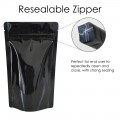100g Black Shiny Stand Up Pouch/Bag with Zip Lock [SP9]
