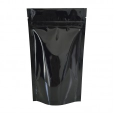 5kg Black Shiny Stand Up Pouch/Bag with Zip Lock [SP8]