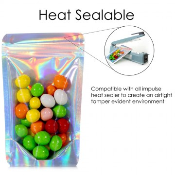 40g Clear / Holographic Stand Up Pouch/Bag with Zip Lock [SP1]