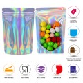 50g Clear / Holographic Stand Up Pouch/Bag with Zip Lock [WP1]