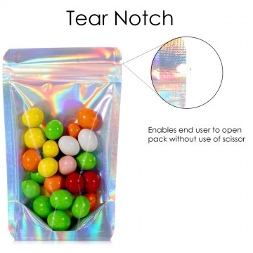 500g Clear / Holographic Stand Up Pouch/Bag with Zip Lock [SP5]