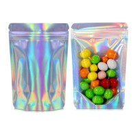 70g Clear / Holographic Stand Up Pouch/Bag with Zip Lock [SP2]