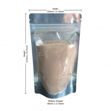 150g Clear / Silver Shiny Stand Up Pouch/Bag with Zip Lock [SP3]