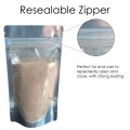 250g Clear / Silver Shiny Stand Up Pouch/Bag with Zip Lock [SP4]