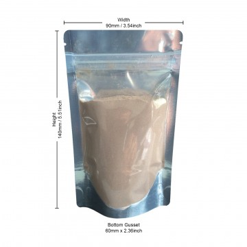50g Clear / Silver Shiny Stand Up Pouch/Bag with Zip Lock [WP1]