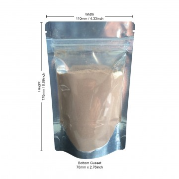 70g Clear / Silver Shiny Stand Up Pouch/Bag with Zip Lock [SP2]