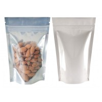 500g Clear / White Shiny Stand Up Pouch/Bag with Zip Lock [SP5]
