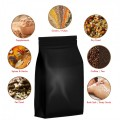 500g Black Matt Flat Bottom Stand Up Pouch/Bag with Zip Lock [FB5]