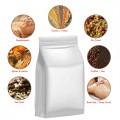 250g White Matt Flat Bottom Stand Up Pouch/Bag with Zip Lock [FB4]