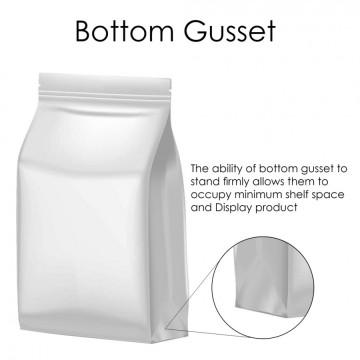 500g White Matt Flat Bottom Stand Up Pouch/Bag with Zip Lock [FB5]