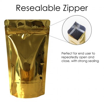 70g Gold Shiny Stand Up Pouch/Bag with Zip Lock [SP2]