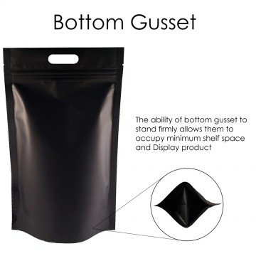 5kg Black Matt With Handle Stand Up Pouch/Bag with Zip Lock [SP8]